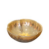 Chocolate Brown Flower Shape Vessel Sinks Gold Pattern Single Bowl