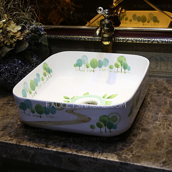 Square Porcelain Vessel Sinks