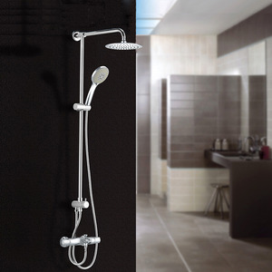 Modern Thermostatic Brass Thermostatic Exposed Outdoor Shower Faucets