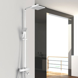 Designed Thermostatic Exposed Outdoor Shower Chrome Brass