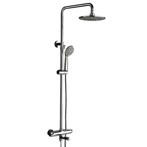 Best Chrome Brass Exposed Shower Faucet Sets Thermostatic