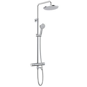 Cheap Thermostatic Exposed Outdoor Shower Faucet Sets Chrome Brass