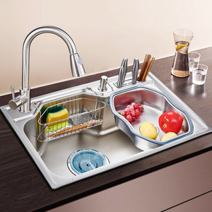 Multi-functional Stainless Steel Kitchen Sinks With Faucet