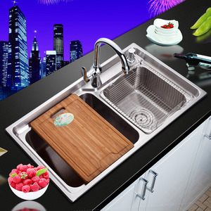 Best Nickel Brushed Stainless Steel Kitchen Sinks Double Sinks With Faucets