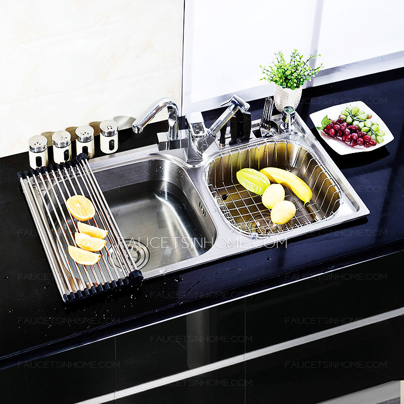 best kitchen sinks nickel brushed stainless steel with pullout spray faucet. Interior Design Ideas. Home Design Ideas