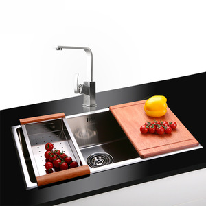 Large Capacity Stainless Steel Single Sink Kitchen Sinks With Faucet