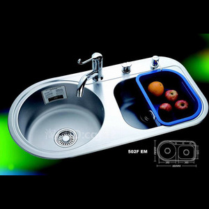 Large Capacity Double Sinks Stainless Steel Kitchen Sinks