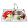 Single Bowl Stainless Steel Nickel Brushed Kitchen Sinks With Faucets