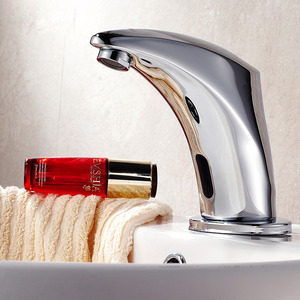 Modern Touch/Touchless Electroplated Brass Vessel Mount Bathroom Sink Faucet