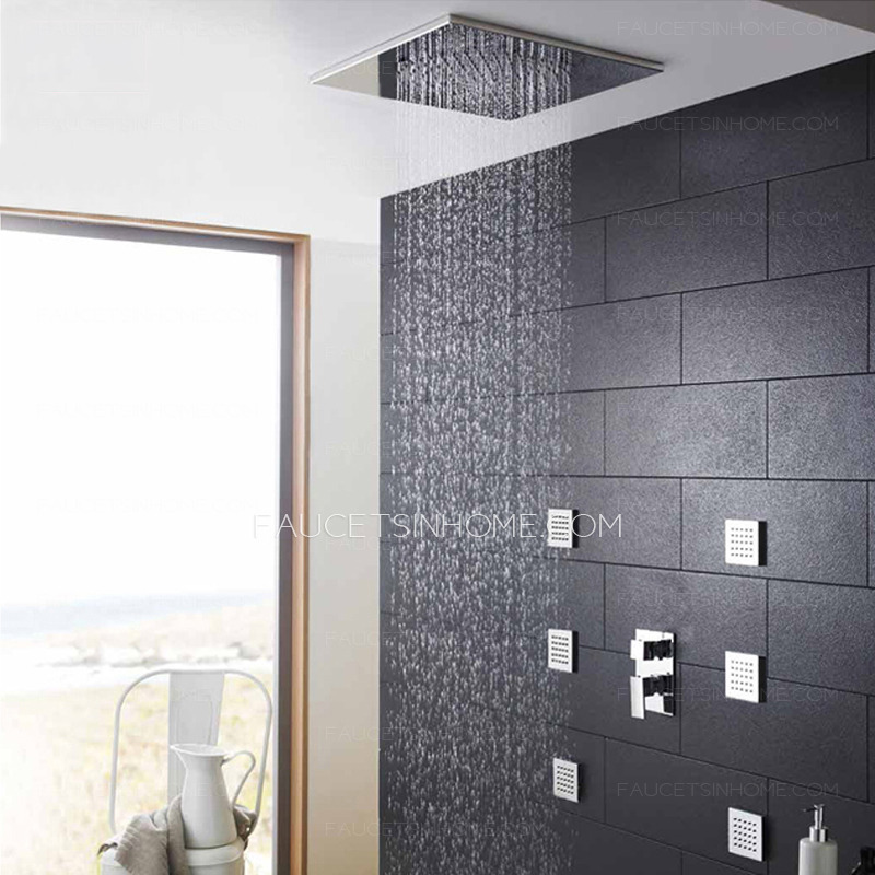 High End Wall Mount Side Blown Massage Shower Faucet Systems