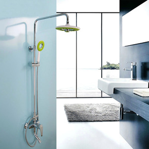 Best Green Top Shower Head Chrome Brass Shower Fixtures