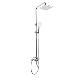 Good Square Shaped Chrome Shower Faucet Types For Bathroom