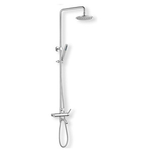Simple Stainless Steel Nickel Brushed Bath Shower Fixtures