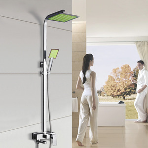Supercharge Chrome Square Shaped Cheap Outdoor Shower