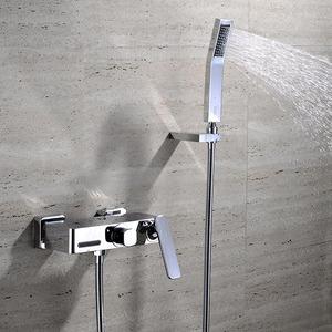Best Wall Mount Chrome Waterfall Bathtub Shower Faucet