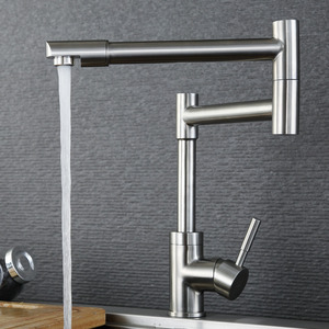 Designer Stainless Steel Nickel Brushed Pot Filler Faucet