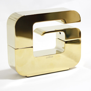Designer G Shaped Polished Brass Rotatable Faucets Bathroom