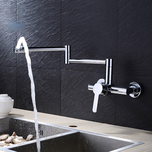 Best Wall Mounted Folding Modern Kitchen Faucet Chrome