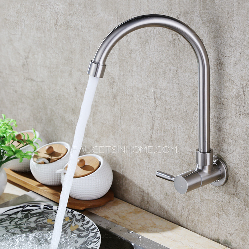 Designer Goose Neck Shaped Wall Mount Best Kitchen Faucets
