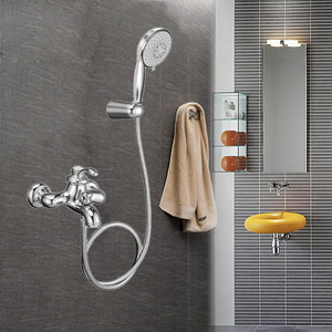 High End Chrome Wall Mount Single Handle Shower Faucet