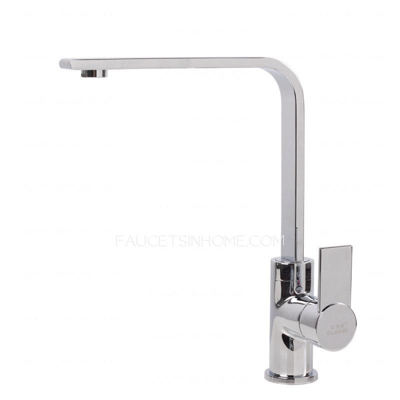 Chrome Brass Kitchen Faucet