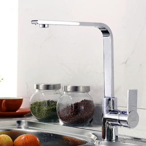 Best Goose Neck Shaped Chrome Brass Kitchen Faucet
