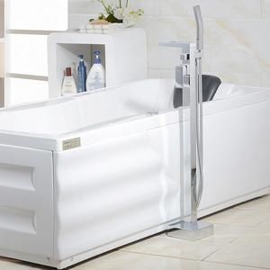 Stylish Waterfall Floor Standing Single Handle Bathtub Faucet