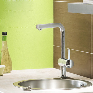 Best L Shaped Brass Chrome Single Hole Kitchen Faucet