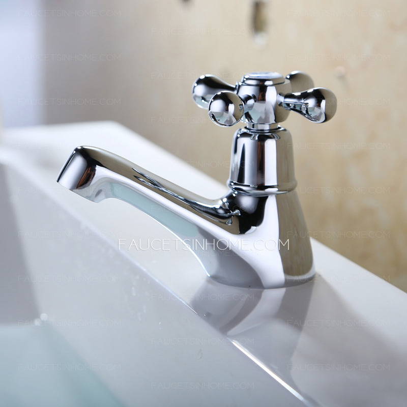 Affordable Blossom Shaped Handle Bathroom Sink Faucet