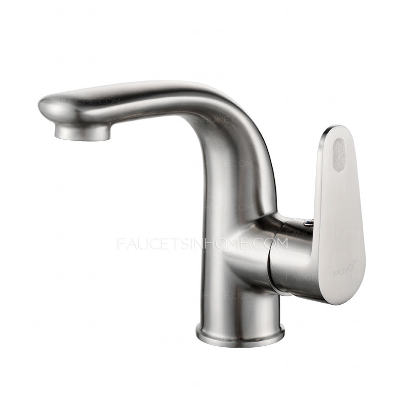smooth stainless steel bathroom faucet single