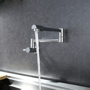 Simple Wall Mount Pot Filler Faucet One Hole