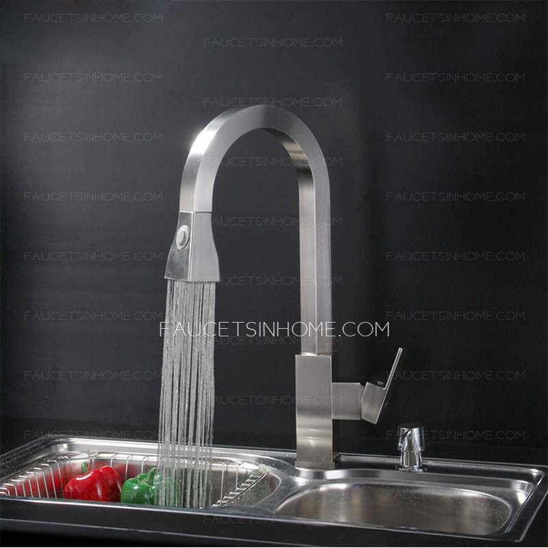 high end brass nickel brushed best kitchen faucets