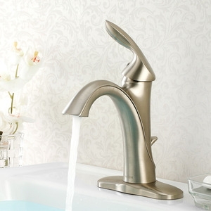 High End Brass Nickel Brushed Modern Bathroom Faucet