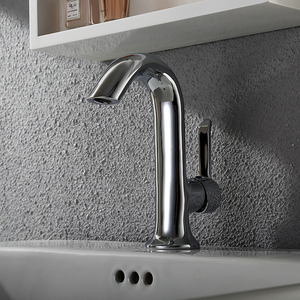 Best One Handle Vessel Goose Neck Shaped Single Faucet Bathroom