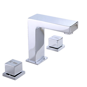 Good Widespread Three Holes Modern Bathroom Faucet