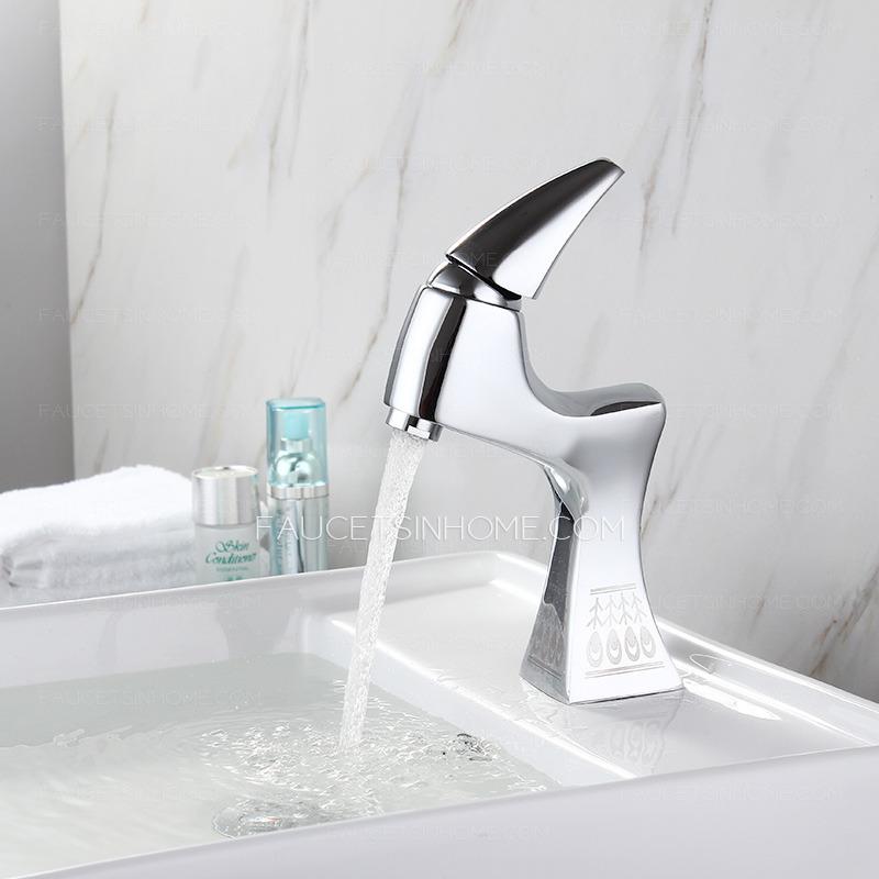 designer chrome one handle brass bathroom faucets