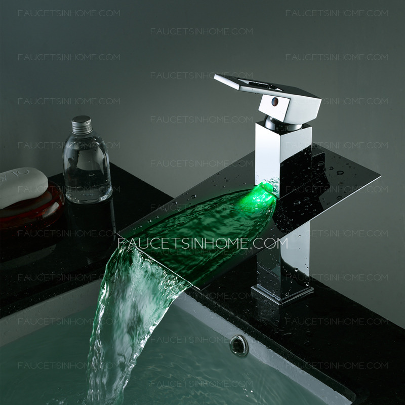 High End Brass Color Change Led Water Faucet For Bathroom