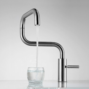 Quality Stainless Steel Nickel Brushed Modern Kitchen Faucets