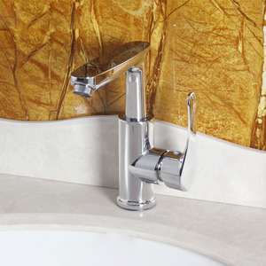 Designer One Handle Chrome Brass Bathroom Sink Faucets