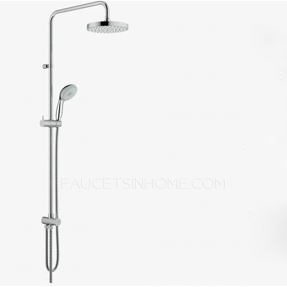 Modern Wall Mount Brass 8 Inch Diameter Top Shower Faucet System
