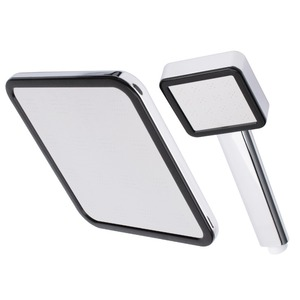 Modern Square Shaped Painting White Top Shower Set