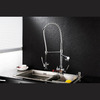 Designer Rotatable Pullout Kitchen Faucet Chrome Stainless steel