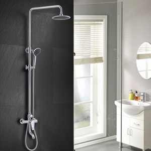 Rotatable 360 Degrees Brass Shower Faucet Chrome Designer Roman Shades