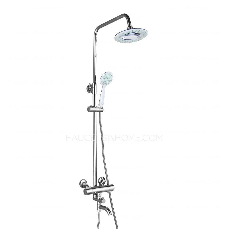 > Shower Faucets > Designer Chrome Brass Circle Shaped Spout Shower ...
