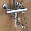 Designer Chrome Brass Circle Shaped Spout Shower Faucet System