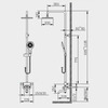 Designer Chrome Brass Circle Shaped Spout Shower Faucet System