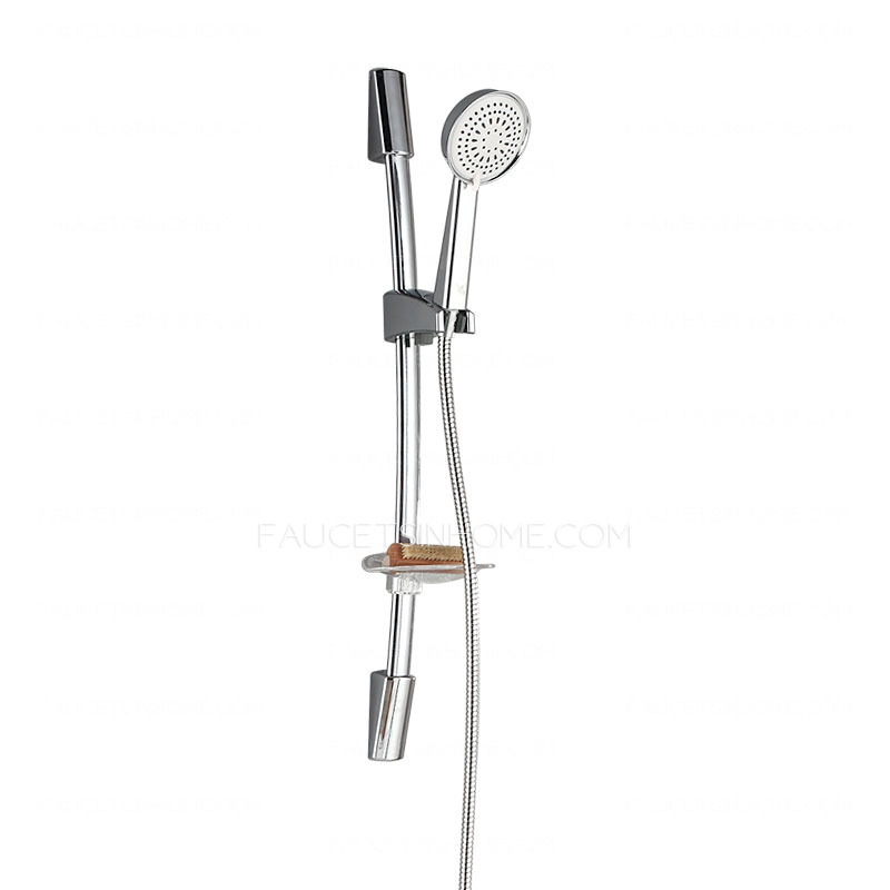 Adjustable Wall Mount Simple Outdoor Shower Stainless Steel