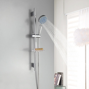 Simple Chrome Wall Mount Stainless Steel Modern Shower Fixtures