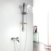 Simple Chrome Stainless Steel Lifting Shower Fixture