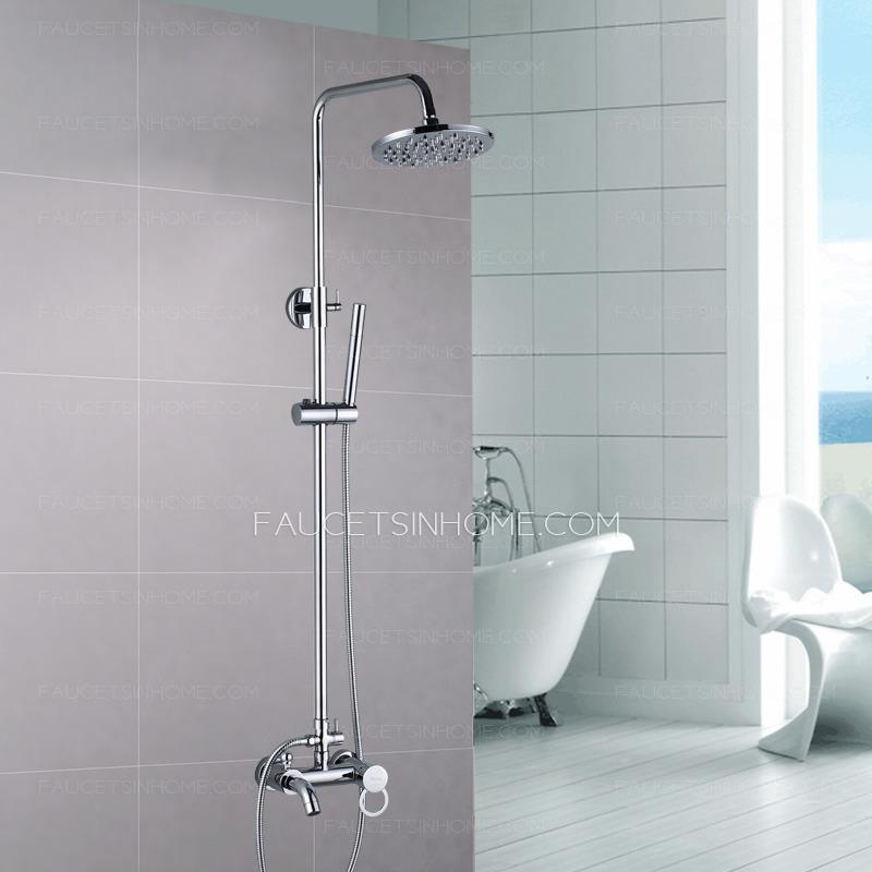> Shower Faucets > Elevating Wall Mount Brass Fixture Chrome Shower ...